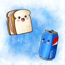 Cute Food Sandwich And Pepsi By PPGxRRB FAN