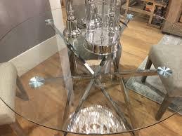 runder tisch glas metall glastisch rund verchromt esstisch