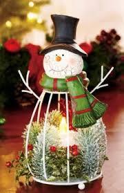Snowman Lantern LED Flameless Candle Night Light