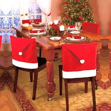 Get Quotations The New Christmas Red Wovens Chair Covers Set Dining Sets Of