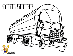 Tank Truck Coloring For Kids