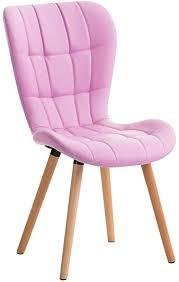 clp esszimmerstuhl elda mit polsterung und kunstlederbezug i lehnstuhl mit holzgestell i polsterstuhl mit ziernähten farbe pink