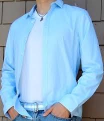 Light Blue Cotton Shirt Men s Fashion For Less