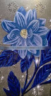 sicis beautiful flowers cut mosaic black swimming