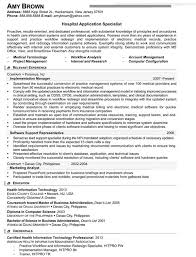 Hospital Application Specialist Resume Example Legal Nurse Consultant