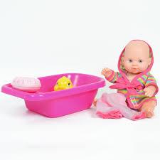 Amazoncom 8 Inch Baby Bath Time Doll With Bathtub And Accessories