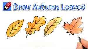 How to draw Autumn or Fall Leaves Real Easy