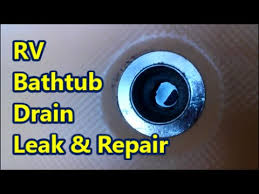 Bathtub Drain Leaking Water by Rv Bathtub Drain Leak And Repair Youtube