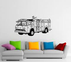 100 Fire Truck Wall Decals Decal Men Vinyl Sticker Home Interior Etsy