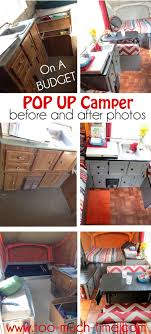 Pop Up Camper Renovation From TMTOMH Too Much Time On My Hands Before And After Makeover