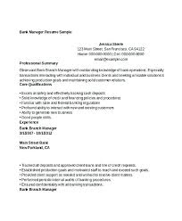 Banking Manager Resume Retail