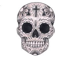 Easy Sugar Skull Day Of by Day Of The Dead Skull Coloring Pages Bestofcoloring Com