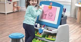 Easel Desk With Stool by Kohl U0027s Step2 Flip U0026 Doodle Easel Desk U0026 Stool Only 35 99
