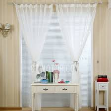 Sheer Cotton Voile Curtains by Simple Modern Style White Linen Cotton Blend Sheer Curtain