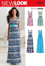new look 6280 misses u0027 knit dress in two lengths with bodice