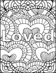 I Am Loved Adult Coloring Page Inspiring Message