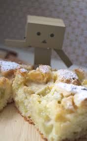 rezept versunkener rhabarber kuchen mit weißer schokolade