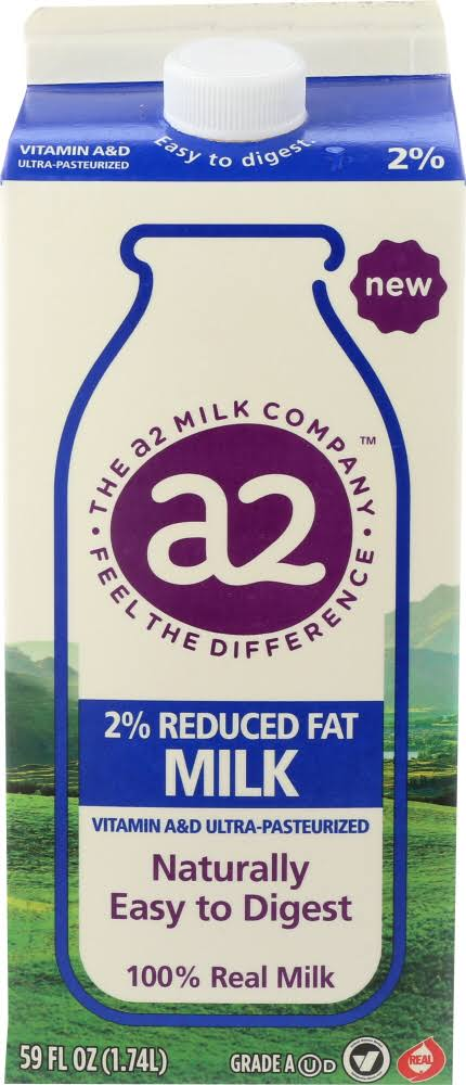 A2 Milk, Reduced Fat, 2%, Ultra-Pasteurized - 59 fl oz