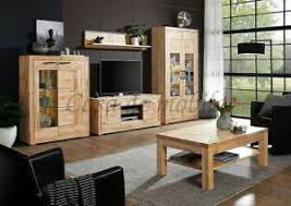 massivholz wohnzimmer set komplett 5teilig wildeiche massiv