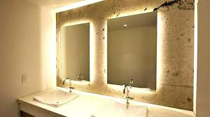 wall mirrors lighted bathroom mirror wall mount lighted wall
