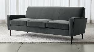 Crate And Barrel Axis Sofa Leather by Torino Blue Velvet Modern Sofa Crate And Barrel