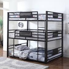 coaster bunks metal full triple bunk value city furniture bunk