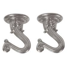 Swag Lamp Kit Home Depot by Westinghouse 1 1 2 In Brushed Pewter Swag Hooks 2 Pack 7044400