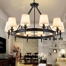 großhandel pendelleuchte american country wohnzimmer lichter hängen len kronleuchter kristall einfache eisen esszimmer schlafzimmer arbeitszimmer