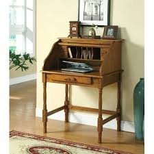desk impressive palmetto small roll top secretary desk coaster