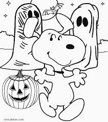 Gorgeous Design Ideas Snoopy Coloring Pages Halloween