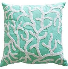 Coral Colored Decorative Items by Amazon Com Decorative Flora Coral Embroidery Throw Pillow Cover