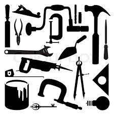 Awesome Woodworking Tools Icons Stock Vector Image 64261407