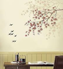 Tree Stencil Designs For Easy Wall Decor At