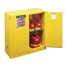justrite safety cabinet 30 gallon self closing door model