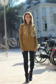 Black Givenchy Skinny Pants And Hugo Boss Boots Paired With Camel Sweater Make The Perfect