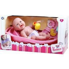 la newborn realistic baby doll bathtub set walmart com