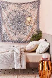 25 Cool White And Blue Flower Tribal Boho Patterned Wall Drape Home Decor Accessory Bedroom