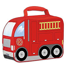 100 Fire Truck Red Lunch Box