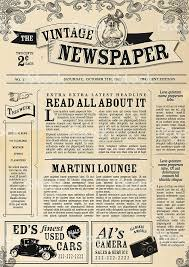 Vintage Newspaper Layout Design Template Royalty Free Stock Vector Art