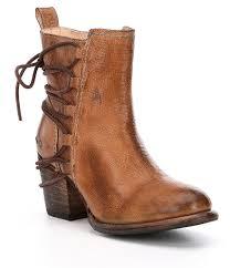 Bed Stu Gogo by Bed Stu Blaire Lace Up Block Heel Booties Dillards