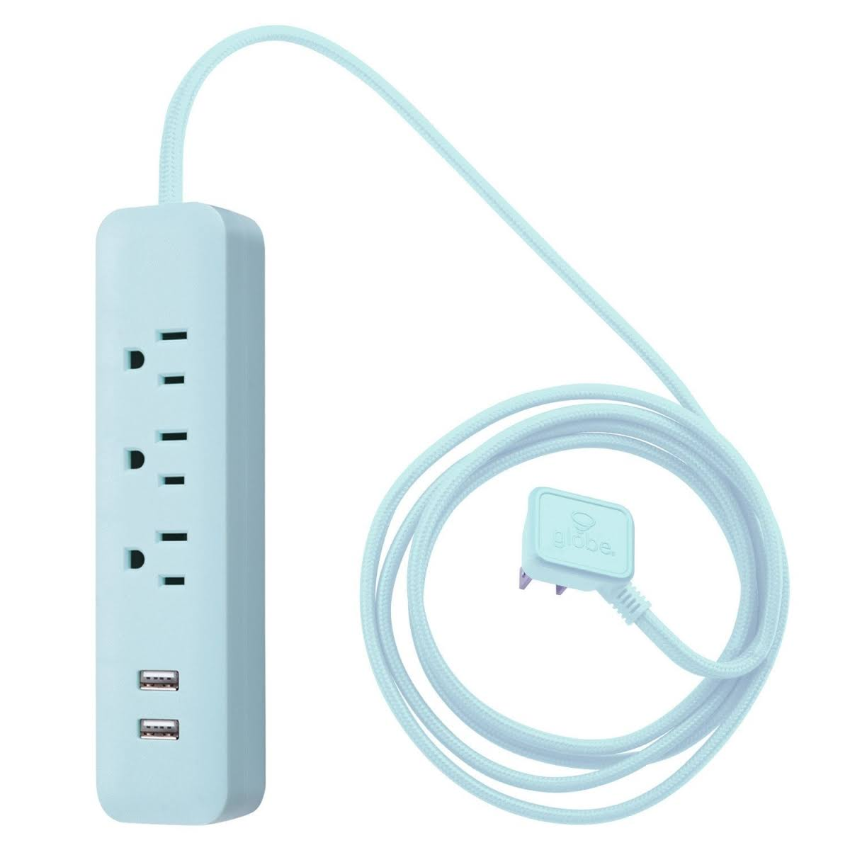 Globe Electric Designer Series 6-ft 3-Outlet USB Power Strip