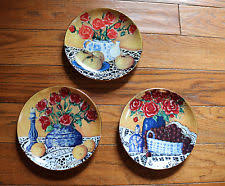decorative rooster plates set of 3 roosters plate kitchen dining