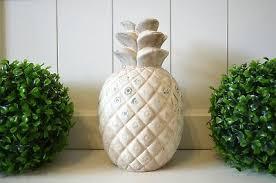 sonstige dekoobjekt ananas antik silber deko küche möbel