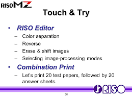 Touch Try RISO Editor Combination Print Color Separation Reverse