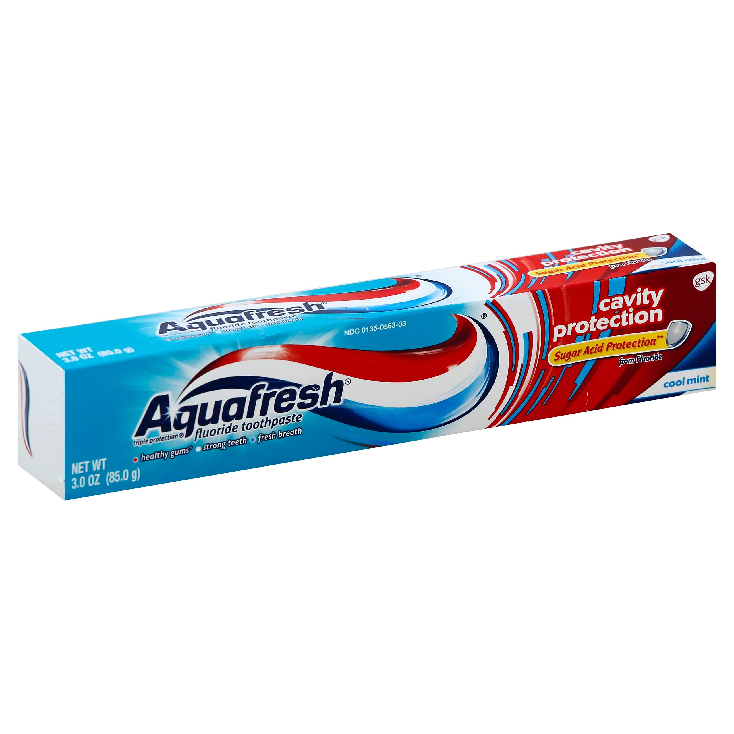 Aquafresh Cavity Protection Fluoride Toothpaste - Cool Mint, 3oz