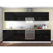 meuble de cuisine noir laqué meuble cuisine laque noir achat vente meuble cuisine laque