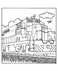 Cartoon Train Coloring Pages Transportation 75