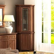 corner china cabinet glacier lighted corner curio cabinet corner