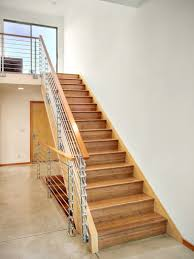 Interior Wood Stairs: Pleasant Modern Wood Stair Railings Design ... Best 25 Modern Stair Railing Ideas On Pinterest Stair Wrought Iron Banister Balusters Stairs Design Design Ideas Great For Staircase Railings Unique Eva Fniture Iron Stairs Electoral7com 56 Best Staircases Images Staircases Open New Decorative Outdoor Decor Simple And Handrail Wood Handrail