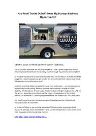 Are Food Trucks Dubai's Next Big Startup Business Opportunity? By ... Inside Puerto Ricos Food Truck Boom Eater 5 Tips To Eliminate Lines At Your Wedding Roaming Hunger How To Start A Business Startup Jungle Trucking Plan Template Free Fresh Inspirational Best Of Cart Accident Stastics Infographic Attorney Joe Bornstein Truck Wikipedia Give And Grub Giving Back Tampa Bay I Run For Wine Fun Fact Friday The Rise Of Cupcakes Food Special Events Vbgovcom City Virginia Beach
